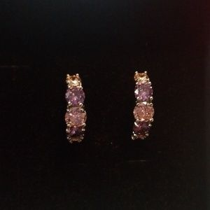 Jewelry - New genuine lab created tourmaline huggie earrings